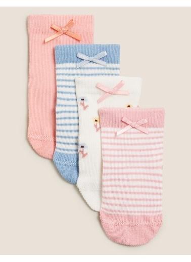 Marks & Spencer 4'lü Fiyonklu Çorap Seti Oranj